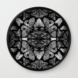 Moth Formations Wall Clock