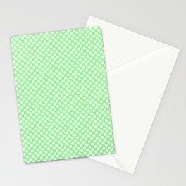 Polka Dots Pattern-Green Stationery Cards