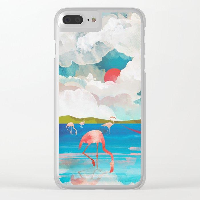Flamingo Dream Clear iPhone Case