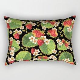 Strawberries Botanical Rectangular Pillow