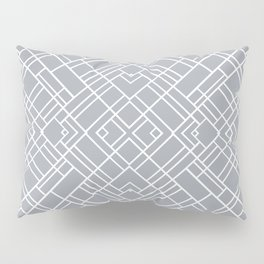 Map Outline 45 Grey Repeat Pillow Sham