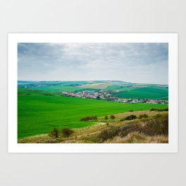 view from cap Blanc Nez Art Print