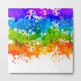 Colorful Splashes Metal Print
