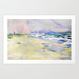 oil sea painting Art Print