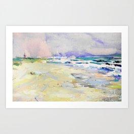 oil sea painting Art Print
