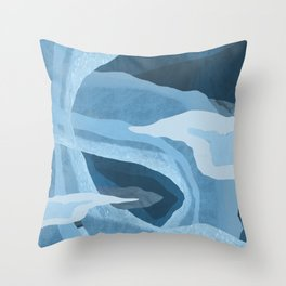 Shapes and Layers no.24 - Blues Throw Pillow