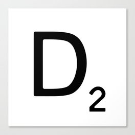 Letter D - Custom Scrabble Letter Wall Art - Scrabble D Canvas Print