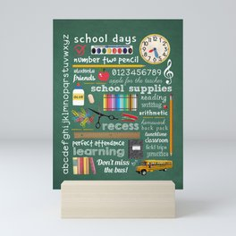 School Days Mini Art Print