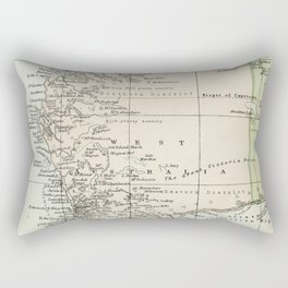 Vintage Map of the West Of Australia Rectangular Pillow