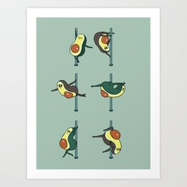 Avocados Pole Dancing Club Art Print