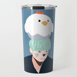 BTS Cat Yoongi with whiskers Travel Mug