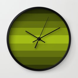 Dark Green Pear - Color Therapy Wall Clock