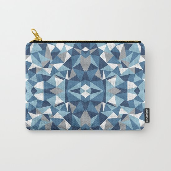 Abstract Collide Blues Carry-All Pouch