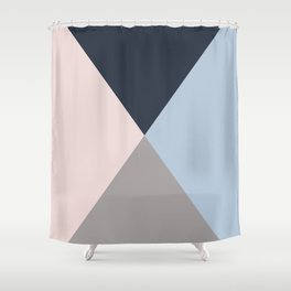 Geometric triangles multi colours- collection mix & match Shower Curtain