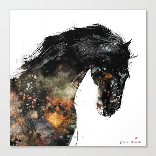 Horse portrait (Distant Galaxy) Canvas Print