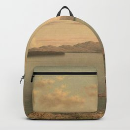 Lake George 1862 By Martin Johnson Heade   Reproduction Backpack