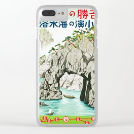 Vintage 1930s Travel Poster-Japan Clear iPhone Case