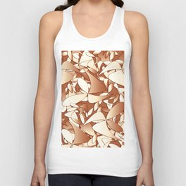 Pattern brown 156 Unisex Tank Top