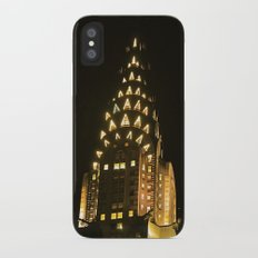 Chrysler Building at Night iPhone X Slim Case