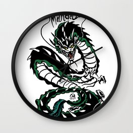 Manda Kaiju Print Wall Clock