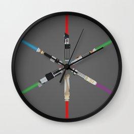 Lightsabers Wall Clock