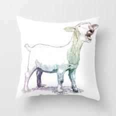 scream goat Throw Pillow
