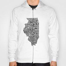 Typographic Illinois Hoody