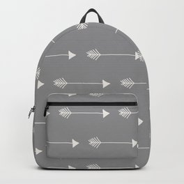 Neutral Grey Tribal Arrows Backpack