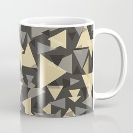 The dark side, mix of elegant abstract chaotic triangles scattered in all directions pattern  Coffee Mug