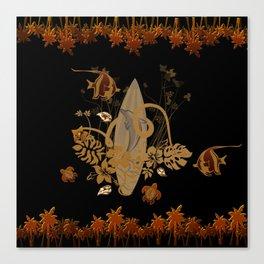 Hawaiian, tropical design Canvas Print