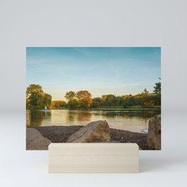 Lake Muhlenberg Shore Line Mini Art Print