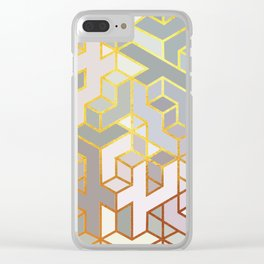Cubes Of Craziness Clear iPhone Case