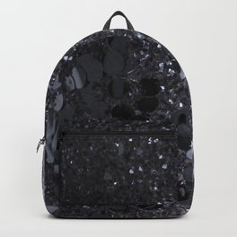 Black and Gray Glitter Bomb Backpack