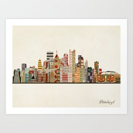 pittsburgh skyline Art Print