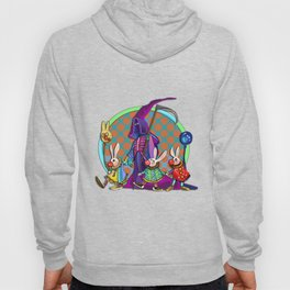Death takes his rabbit friends to the circus Hoody