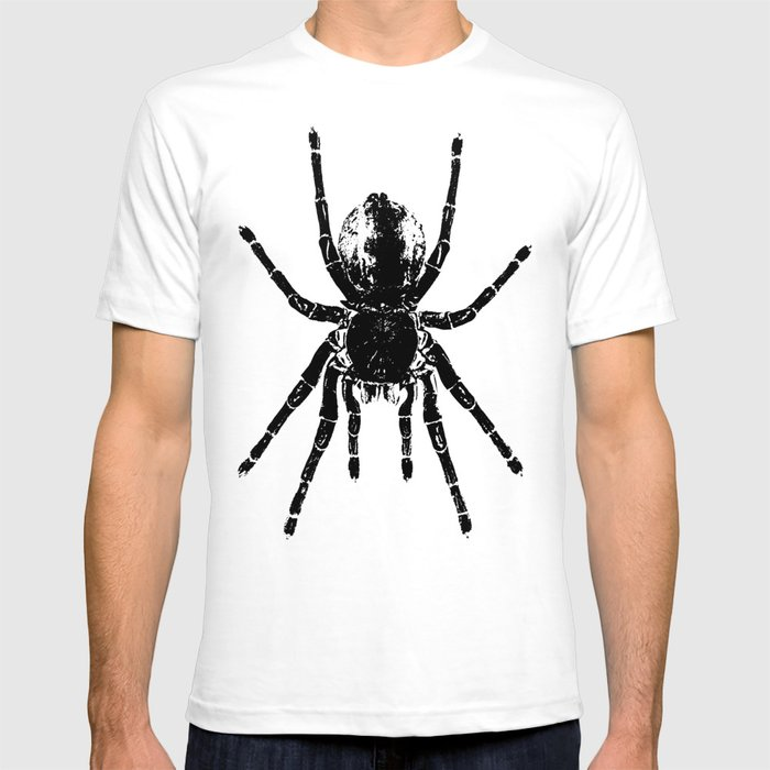 9f803210 Scary Tarantula Spider Halloween Black Arachnid T-shirt by ...