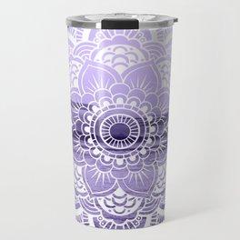Water Mandala Lavender Travel Mug