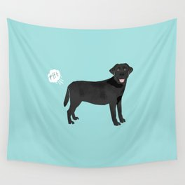 Black Lab funny fart dog breed gifts labrador retrievers Wall Tapestry