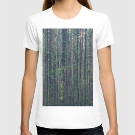 forest landscape photography tree background - trees vintage style T-shirt