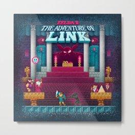 The Link Adventure of Zelda, too Metal Print