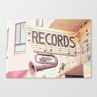 records Canvas Prints featuring Records by JoyHey