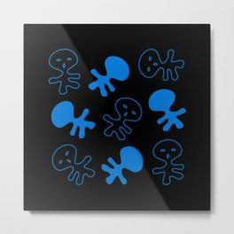 Aliens-Blue Metal Print