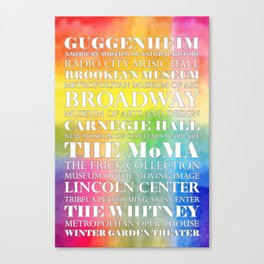 New York City arts - white Canvas Print