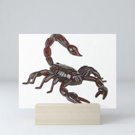 Scorpion Body Arachnida 3d Resistant Glass Model Maroon Mini Art Print