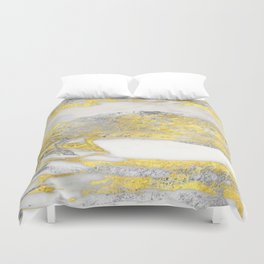 Silver and Gold Marble Design Duvet Cover