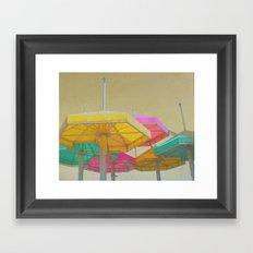 Beach Umbrellas Framed Art Print