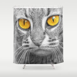 RUSTY SPOTTED CAT Shower Curtain