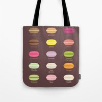 macarons Tote Bags featuring Macarons by House of MacGuffin