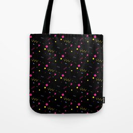 80s are The New Black - Pattern #0 Tote Bag