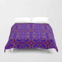 bohemian Duvet Covers featuring Bohemian by katharine stackhouse